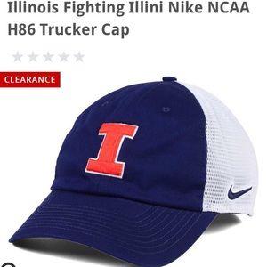 Illinois Fighting Illini NIKE trucker hat NWT